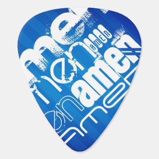 Amen; Königsblau-Streifen Gitarren-Pick