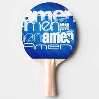 Amen; Königsblau-Streifen Tischtennis Schläger