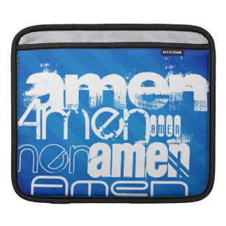 Amen; Königsblau-Streifen iPad Sleeves