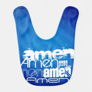 Amen; Königsblau-Streifen Lätzchen
