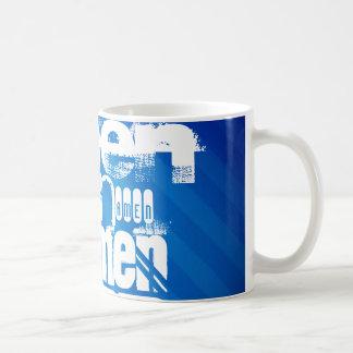 Amen; Königsblau-Streifen Kaffee Tassen