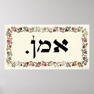 Amen mit geschnittenem Papier Poster