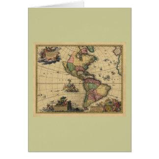 Americam utramque - Norden u. Südamerika-Karte Karte