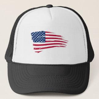 American_flag_background Truckerkappe