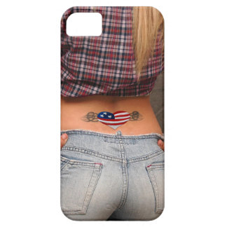 American Girl American USA Flag Tatoo Patriot Gift Barely There iPhone 5 Hülle