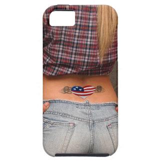 American Girl American USA Flag Tatoo Patriot Gift iPhone 5 Etui