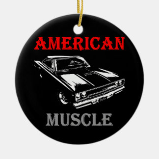 American Muscle - Plymouth Road Runner Rundes Keramik Ornament