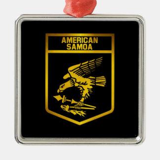 American- Samoaemblem Silbernes Ornament
