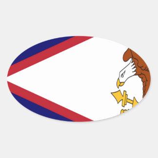 American- Samoaflagge Ovaler Aufkleber