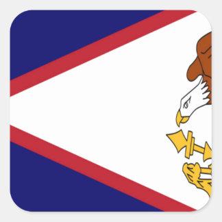 American- Samoaflagge Quadratischer Aufkleber