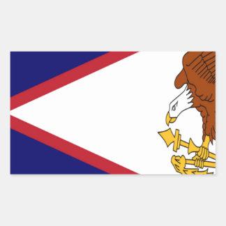 American- Samoaflagge Rechteckiger Aufkleber