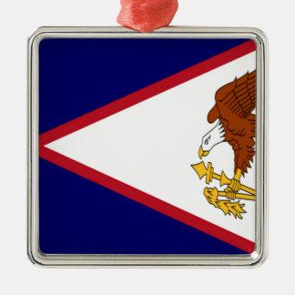 American- Samoaflagge Silbernes Ornament