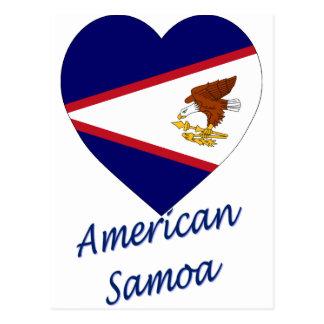 American- Samoaflaggen-Herz Postkarte