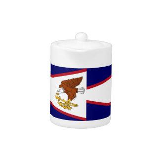 American- SamoaStaats-Flaggen-Teekanne