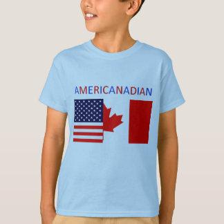 AMERICANADIAN 2 das blaue T-Stück Jungen T-Shirt