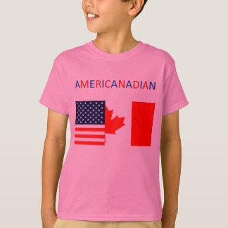 AMERICANADIAN 2 das rosa T-Stück Mädchen T-Shirt