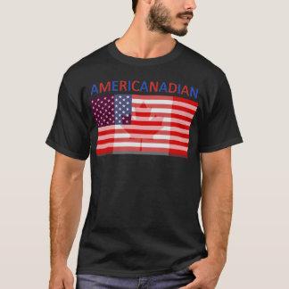 AMERICANADIAN volles schwarzes T-Shirt