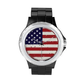 AmericanaFlagge-Uhr