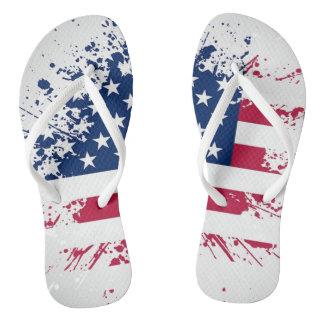 Americanaflaggen-Entwurf drehen Reinfälle um Flip Flops
