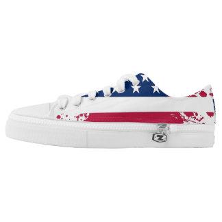 Americanaflaggen-Entwurf Niedrig-Spitze Turnschuhe Niedrig-geschnittene Sneaker