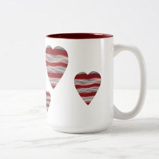 Americanaherz-Kaffee-Tasse Zweifarbige Tasse