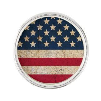 Americanasterne amd Stripes Anstecknadel