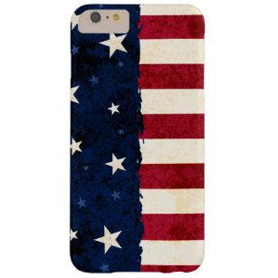 Americanavolk-Sterne u. Streifen patriotisch Barely There iPhone 6 Plus Hülle