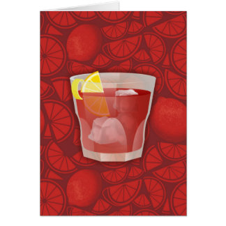 Americano Cocktail Mitteilungskarte