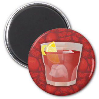 Americano Cocktail Runder Magnet 5,7 Cm