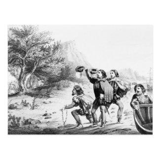 Amerigo Vespucci in Amerika-Postkarte