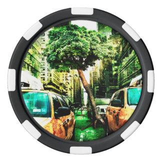 Amerika-Art des Taxi-Entwurfs Vintag Pokerchips