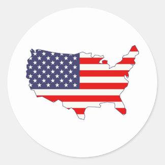 Amerika Runder Aufkleber