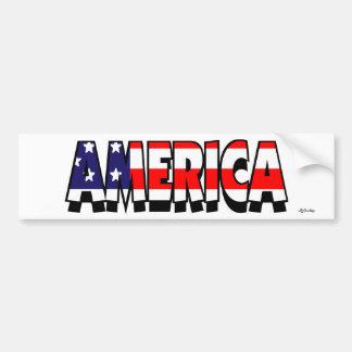 Amerika! AUTOAUFKLEBER
