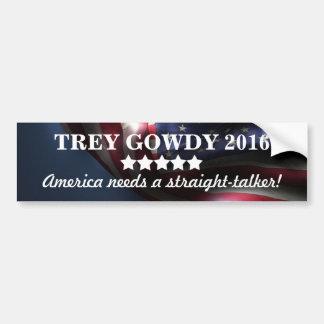 Amerika benötigt ein GeradSprecher ~Trey Gowdy Autoaufkleber