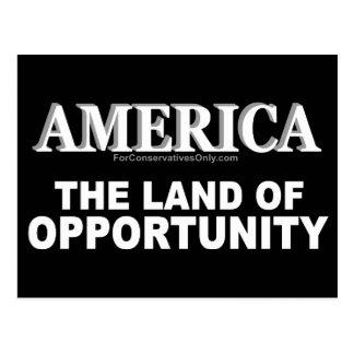 Amerika-D Land der Gelegenheit Postkarte