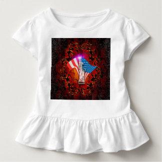 Amerika, das Freiheitsstatue mit Kleinkind T-shirt