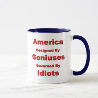 Amerika: Entworfen durch Genie-Tasse Tasse