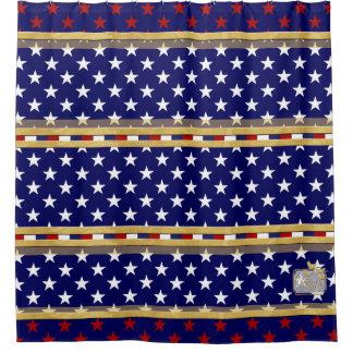 Amerika färbt Stern-Duschvorhang Duschvorhang