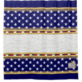 Amerika färbt Stern-einfachen blauen Duschvorhang