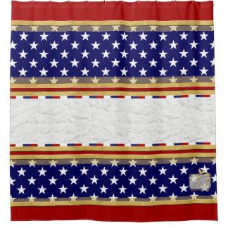 Amerika färbt Stern-einfachen roten Duschvorhang