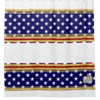 Amerika färbt Stern-weißen Duschvorhang