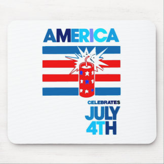 Amerika - Feier - Rot u. Blau Mousepad