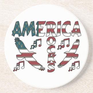 Amerika-Felsen mit Eagles u. musikalischen Untersetzer