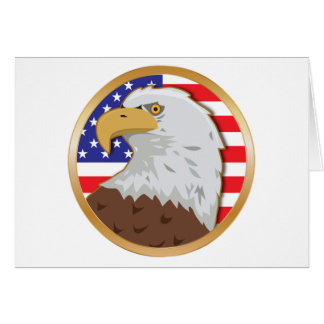 Amerika flach grußkarte