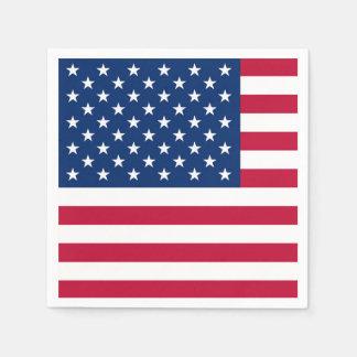 Amerika-Flagge amerikanische USA Serviette