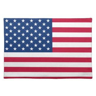 Amerika-Flagge amerikanische USA Stofftischset