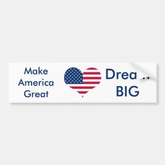 Amerika-Flagge amerikanisches USA-Herz Autoaufkleber