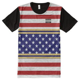 Amerika-Flagge färbt heimat-Kleidungs-T - Shirt