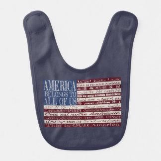 Amerika gehört allen uns Schellfisch Babylätzchen