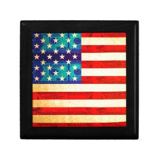 Amerika-Geldflagge Erinnerungskiste